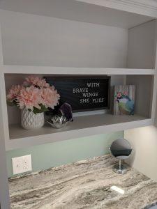letterboard and granite desktop at concord crisis center